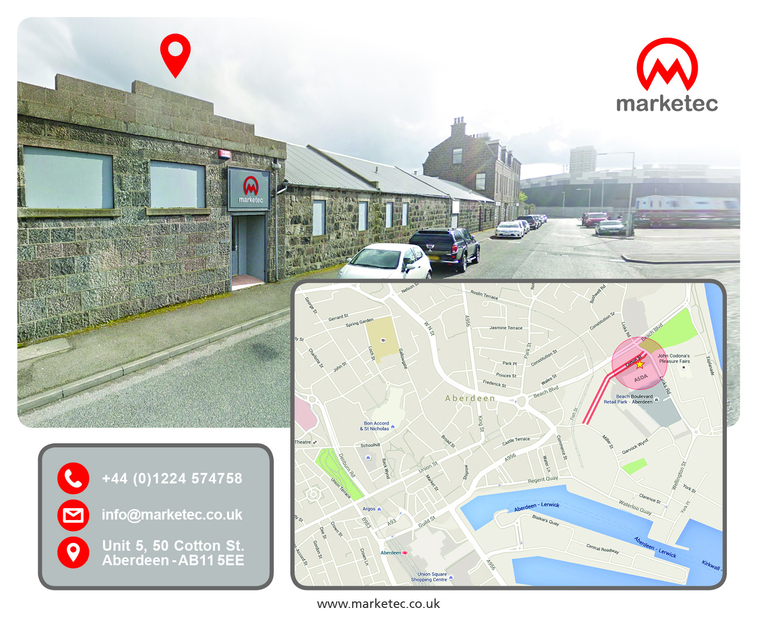 Marketec Location - contact