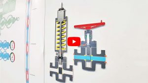 Valve actuator model for training